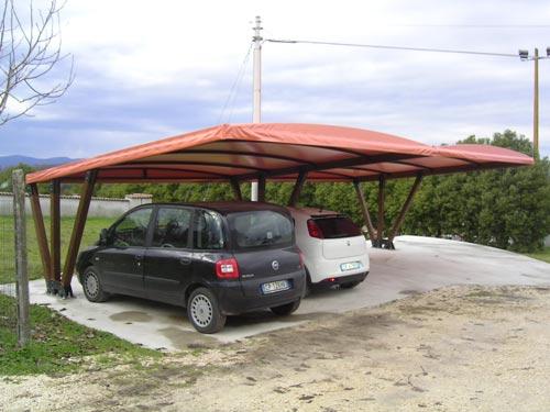 La canalplast coperture per parcheggi pensiline for Coperture in legno per auto usate